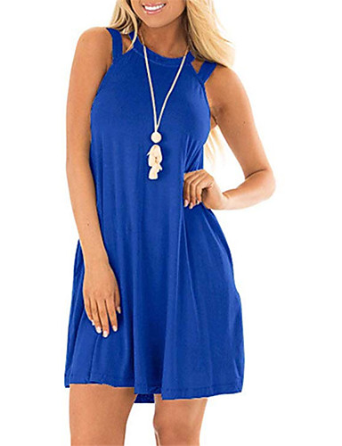 4e93e139 cheap New in Dresses-Women's Basic A Line Dress - Solid
