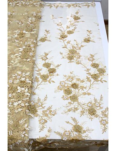 halpa Wedding Dress Fabric-Afrikkalainen pitsi Kukkakuviot Pattern 125 cm leveys kangas varten Morsius myyty mukaan 5Yard