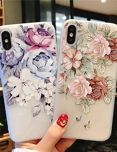 מארז עבור iPhone iPhone 7 / iPhone 7 פלוס / iPhone 6 בתוספת הבלטה האחורי לכסות פרח tpu רך עבור iPhone xs מקס / xs / xr 6s 6splus 7 8 7plus 8plus