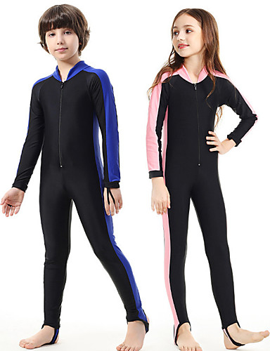 5698453a30 SBART Boys' Girls' Rash Guard Dive Skin Suit 1mm Diving Suit SPF50 UV Sun  Protection Quick Dry Full Body Front Zip - Swimming Diving Patchwork Spring  Summer ...
