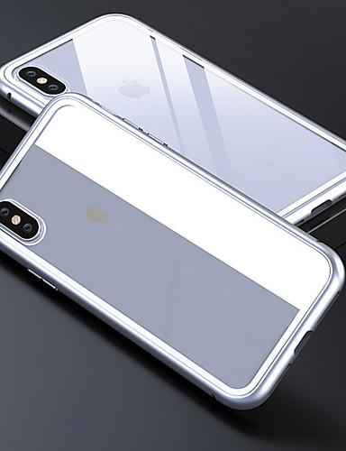 מארז iPhone עבור iPhone 6 / iPhone xs מקסימום שקוף כיסוי אחורי שקוף / מוצק צבעוני קשה מזג זכוכית עבור iPhone 6 / iPhone 6s / iPhone 6s פלוס