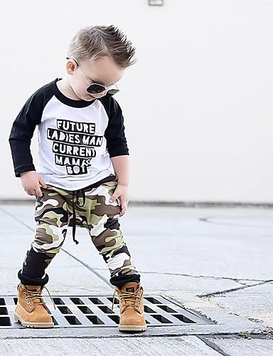 סט של בגדים שרוול ארוך דפוס בנים תִינוֹק