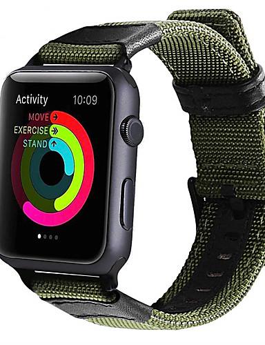 צפו בנד ל Apple Watch Series 4/3/2/1 Apple רצועת ספורט ניילון / עור אמיתי רצועת יד לספורט