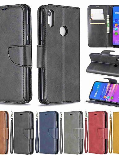 מגן עבור Huawei Huawei Nova 3i / Mate 10 lite / Huawei Mate 20 lite ארנק / עמיד בזעזועים / עם מעמד כיסוי מלא אחיד קשיח עור PU