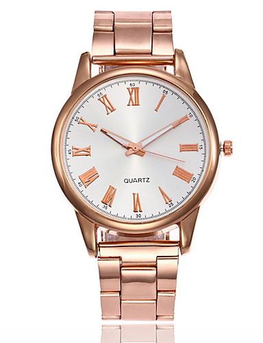 Kadın's Elbise Saat Quartz Gündelik Saatler Analog Klasik - Altın Gümüş Gül