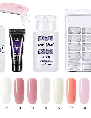 billige Udsalg-1 sett spiker poly gel sett spiker uv led forleng builder akryl gel for å bygge manikyr nail art tips forlengelse polygel kit