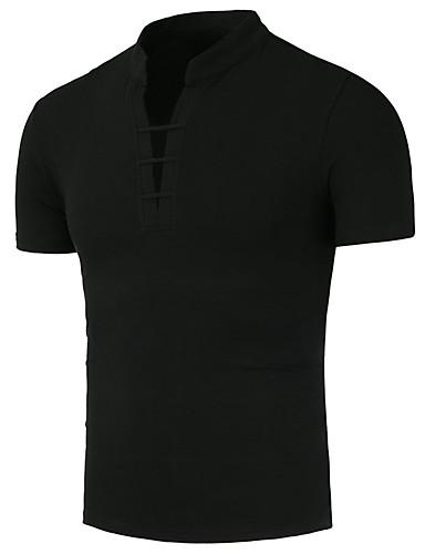 Erkek Pamuklu Yuvarlak Yaka Tişört Kırk Yama, Solid / 3D Temel Sihirli Küpler Beyaz / Uzun Kollu