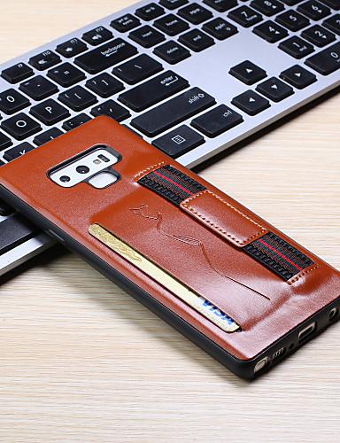 Pouzdro Uyumluluk Samsung Galaxy Note 9 Kart Tutucu Arka Kapak Solid PU Deri