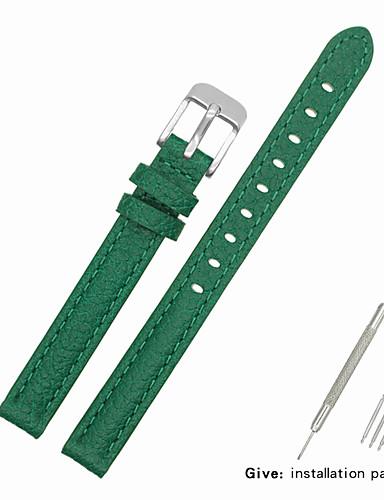 Gerçek Deri / Deri / Buzağı Tüyü Watch Band kayış için Yeşil Diğer / 17cm / 6.69 inç / 19cm / 7.48 İnç 1cm / 0.39 İnç