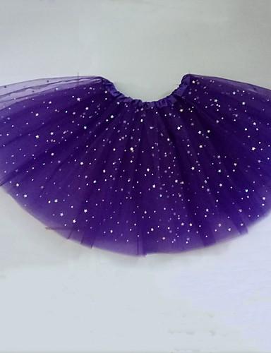 abordables Jupes-Femme Mini Trapèze Jupes - Couleur Pleine Noir Violet Rose Claire Taille unique / Mince