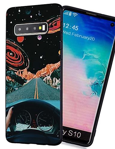 Pouzdro Uyumluluk Samsung Galaxy S9 / S9 Plus / S8 Plus Şoka Dayanıklı / Buzlu / Temalı Arka Kapak Gökyüzü TPU