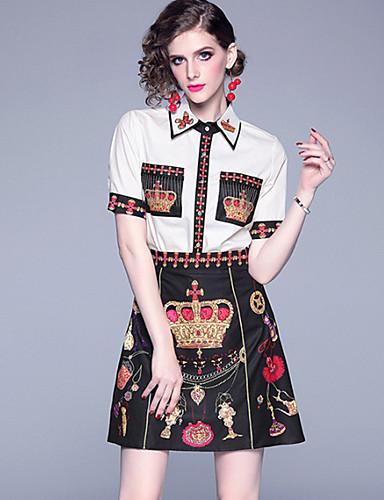 Kadın's Temel Zarif A Şekilli Çan Elbise - Solid Zıt Renkli, Kırk Yama Desen Diz üstü