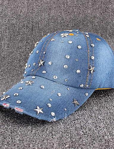 abordables Accessoires Femme-Femme Toile de jean Basique Casquette de Baseball Galaxie Bleu