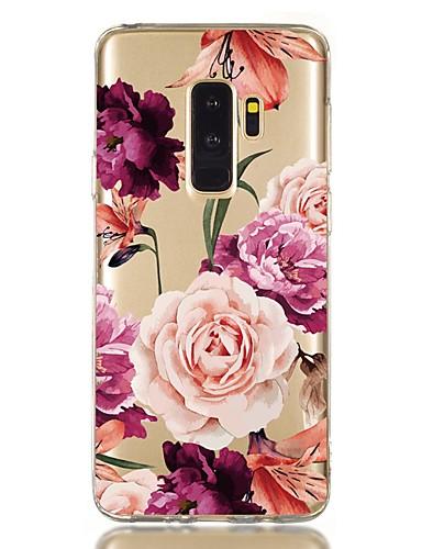 Pouzdro Uyumluluk Samsung Galaxy S9 / S9 Plus / S8 Plus Şoka Dayanıklı / Şeffaf / Temalı Arka Kapak Çiçek TPU