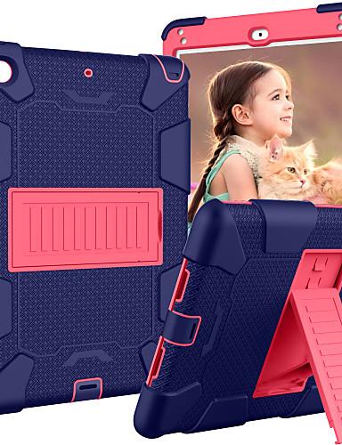 Pouzdro Uyumluluk Apple iPad Mini 5 / iPad Mini 4 Satandlı / Çocuk Güvenli Kasa Arka Kapak Zırh Silika Jel