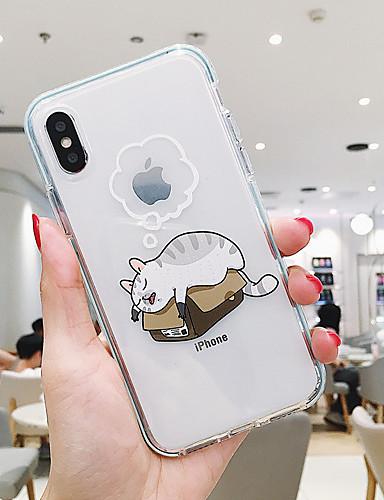 Pouzdro Uyumluluk Apple iPhone XR / iPhone XS Max / iPhone X Toz Geçirmez / Şeffaf / Temalı Arka Kapak Kedi / Köpek TPU
