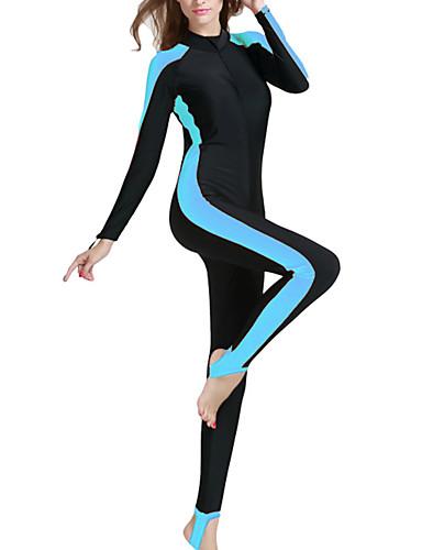 halpa Märkäpuvut, sukelluspuvut ja suoja-asut-SBART Naisten Skin-tyyppinen märkäpuku 2mm Sukelluspuvut SPF50 UV-aurinkosuojaus Nopea kuivuminen Pitkähihainen Etuvetoketju - Uinti Sukellus Lainelautailu Patchwork