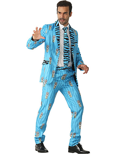 Erkek Suit, Hayvan Çentik Yaka Polyester Havuz US36 / UK36 / EU44 / US38 / UK38 / EU46 / US40 / UK40 / EU48