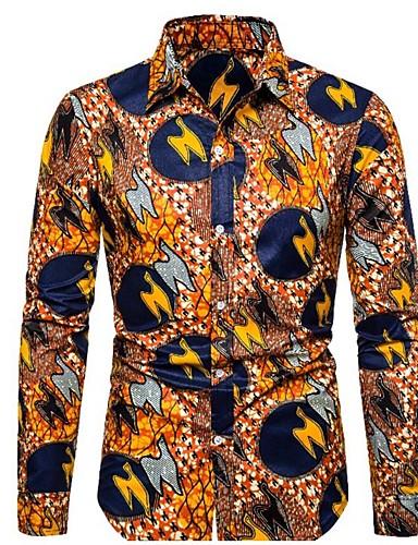 Erkek Gömlek Desen, Zıt Renkli Sokak Şıklığı Turuncu