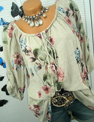 abordables Hauts pour Femme-Tee-shirt Femme, Fleur Blanche
