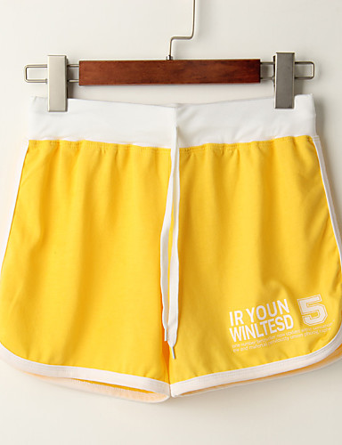 abordables Pantalons Femme-Femme Sportif Ample Joggings / Short Pantalon - Rayé Bleu clair Violet Jaune Taille unique