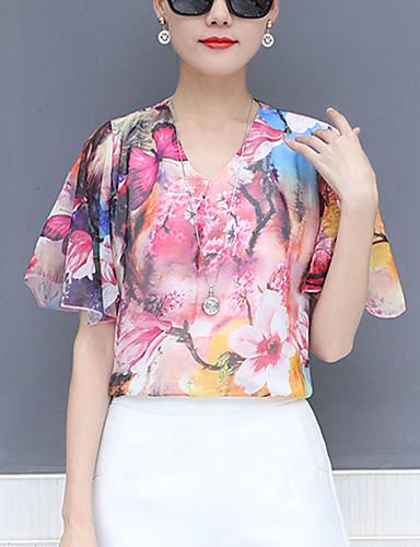abordables Hauts pour Femmes-Tee-shirt Femme, Géométrique Imprimé Rétro Vintage / Chic de Rue Noir