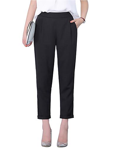abordables Pantalons Femme-Femme Basique / Chic de Rue Sarouel / Chino Pantalon - Couleur Pleine Noir S M L