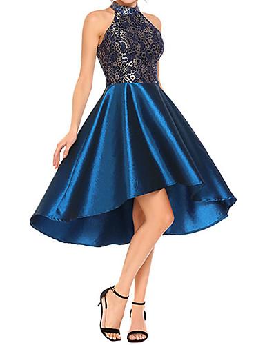 abordables Robes Femme-Femme Basique Au dessus du genou Gaine Robe Géométrique Noir Vin Bleu S M L Sans Manches