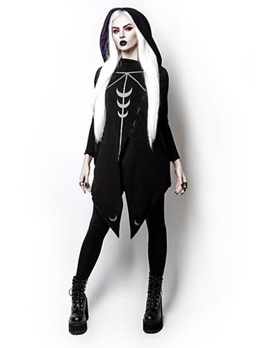 billige Dametopper-Dame Halloween Hattetrøje Geometrisk