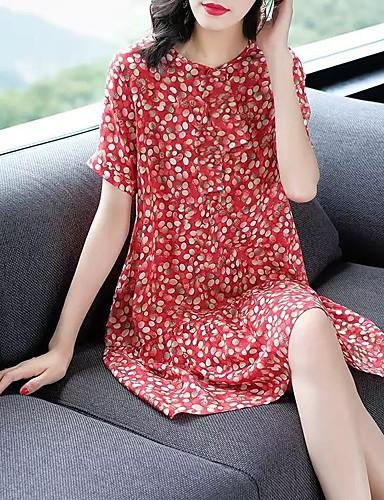 Kadın's Sokak Şıklığı Zarif Kombinezon Elbise - Ekose Kar Tanesi Batik, Şalter Fırfırlı Desen Diz üstü Siyah ve Beyaz Vinç Ananas