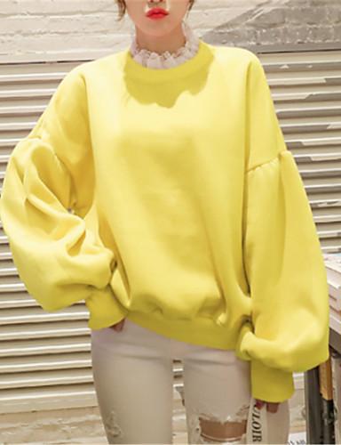abordables Hauts pour Femmes-Femme Actif Sweatshirt Couleur Pleine