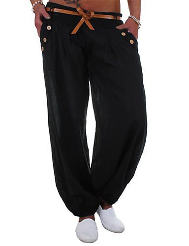 abordables Pantalons Femme-Femme Basique Chino Pantalon - Couleur Pleine Noir Bleu Roi Gris S M L