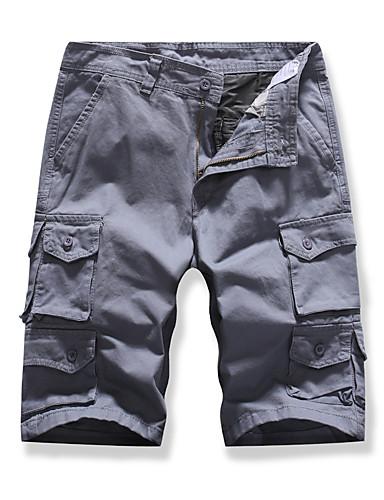 Erkek Temel Şortlar Pantolon - Solid Siyah gri, Desen Siyah Ordu Yeşili Havuz US32 / UK32 / EU40 US34 / UK34 / EU42 US36 / UK36 / EU44