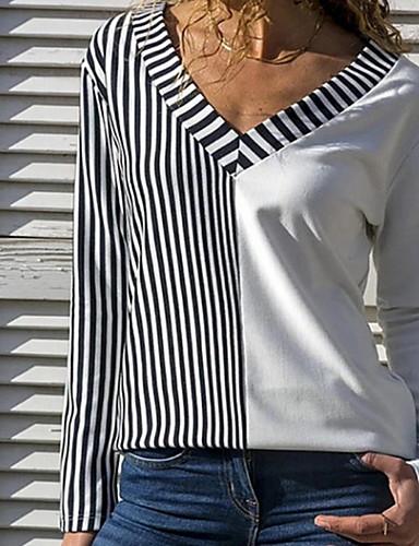 povoljno Ženske majice-Majica s rukavima Žene Dnevno Prugasti uzorak Obala