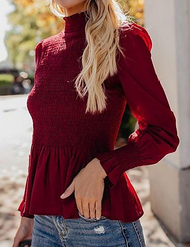 billige Dametopper-T-skjorte Dame - Ensfarget Vin