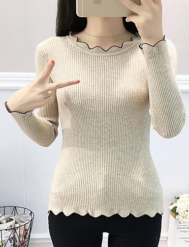 abordables Hauts pour Femmes-Tee-shirt Femme, Couleur Pleine Chic de Rue / Elégant Noir