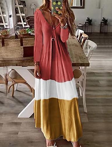 voordelige Maxi-jurken-Dames Boho Kaftan Jurk - Abstract, Print Maxi