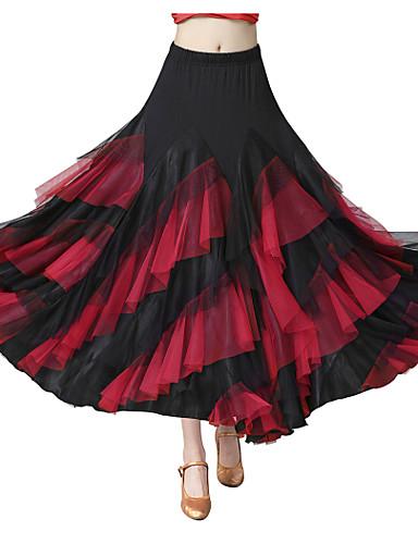 voordelige Shall We®-Ballroomdansen Kleding Onderlichaam Dames Opleiding / Prestatie Spandex / Tule / Polyster Combinatie / Gelaagd Natuurlijk Rokken