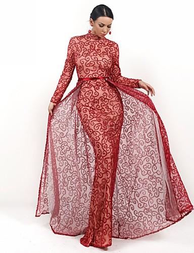 levne Prázdninové šaty-A-Linie Stojáček Na zem Flitry Zářivé Formální večer Šaty s Flitry podle LAN TING Express