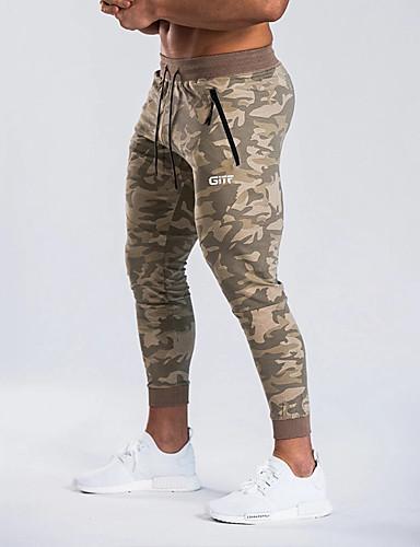 voordelige Uitverkoop-Heren Sportief Joggingbroeken Broek - Camouflage Kleur Sportief Grijs Khaki US32 / UK32 / EU40 US34 / UK34 / EU42 US36 / UK36 / EU44