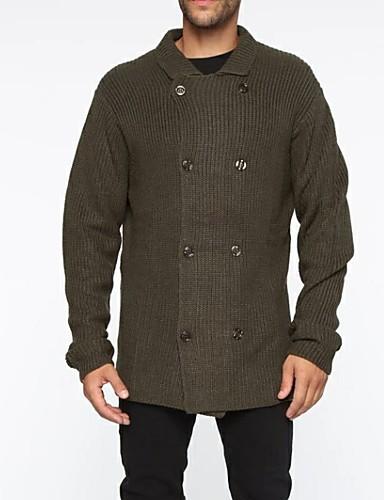voordelige Herenmode-Heren Effen Lange mouw Vest, Overhemdkraag Donkergrijs US36 / UK36 / EU44 / US38 / UK38 / EU46 / US40 / UK40 / EU48
