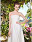 cheap Wedding Dresses-Sheath / Column Strapless Asymmetrical Tulle Made-To-Measure Wedding Dresses with Beading / Appliques / Button by LAN TING BRIDE® / Little White Dress