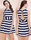 cheap TS Dresses-TS Two-piece Striped Swing Dress