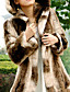 cheap Fur Coats-Long Sleeve Turndown Collar Evening/ Career Faux Fur Coat With Pockets (More Colors)