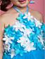 cheap Flower Girl Dresses-Lovely Halter Neckline Ball Gown Tulle Flower Girl Dress