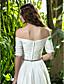 povoljno Vjenčanice-A-kroj Do poda Šifon Vjenčanica s Kristal Ukriženo Nabrano po LAN TING BRIDE®