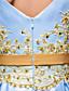 baratos Vestidos de Coquetel-De Baile Bateau Neck Longuette Cetim Reunião de Classe Festa de Família Festa da Empresa Vestido com Miçangas Apliques Faixa / Fita de TS