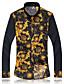 abordables Chemises pour Homme-Chemise Hommes,Imprimé Décontracté / Quotidien Travail Grandes Tailles Manches Longues Coton