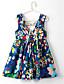 저렴한 여아 드레스-여자의 드레스 플로럴,여름 린넨 폴리에스테르 민소매