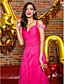 cheap Prom Dresses-Sheath / Column Straps Sweep / Brush Train Chiffon Prom / Formal Evening Dress with Beading Side Draping by TS Couture®